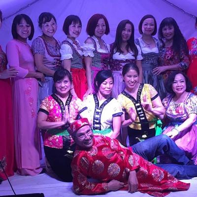 All together auf der Bühne Asia Abend - Die kleine Kneipe Lämmerspiel